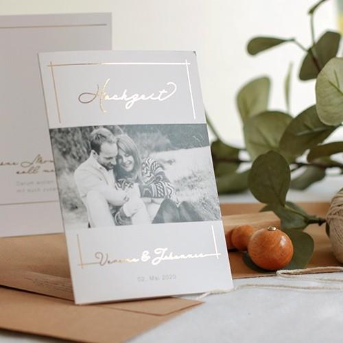 Einladungskarte Hochzeit Verena & Johannes